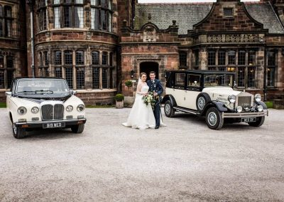 Barringtons Wedding cars at Thornton Manor in the Wirral