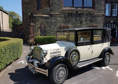 St Peter and Paul's Church crosby wedding car