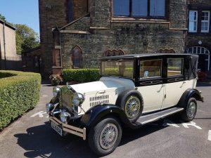 Imperial Viscount Landaulette wedding car St Peter and Paul's Church crosby Liverpool Merseyside UK